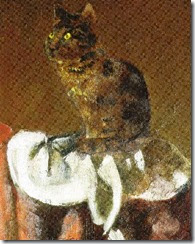 Balthus - the cat with the mirror iii detail) (1989 - 94)