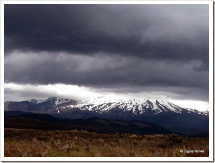 The storm clouds gathering over the Central Plateau New Zealand