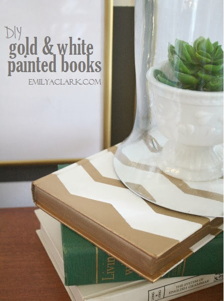 DIY spray painted books