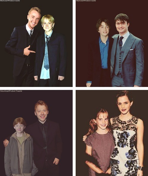 Harry Potter cast members at the first and last movie premiers via Geek Tyrant