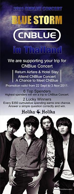 CNBlue Concert Thailand Holika Holika SIngapore Wistma Atria