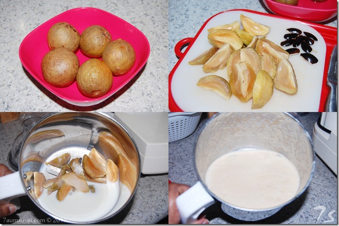 Sapodilla milkshake process