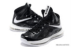 lbj10 fake colorway black white 1 02 Fake LeBron X