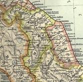 Mapa de Umbría y Piceno que muestra la ubicación del ager Gallicus