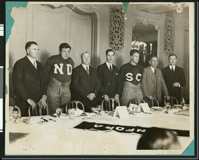 babe ruth in ND jersey, gehrig in SC 1927
