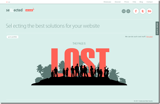404 Error Page Design - Sellected Studio