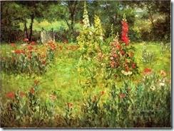 3-Hollyhocks-and-Poppies-The-Hermitage-landscape-John-Ottis-Adams