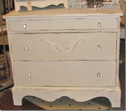 Moonlight white dresser AFTER