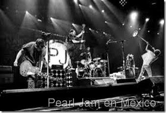 Pearl jam en Concierto en Mexico Noviembre 2015