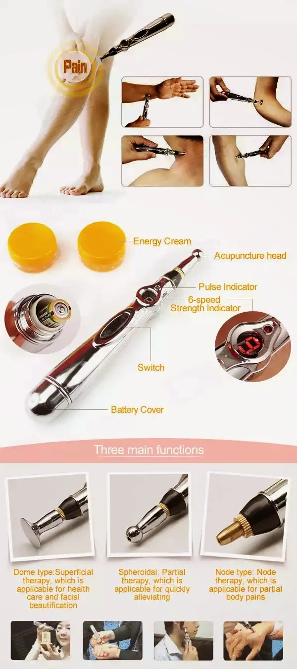 Alat Bekam Akupuntur 2014 Gel Pad 1 X Meridian Energy Pen English User Manual Aa Battery Blood Circulation Activating Plaster Face Cream Probe