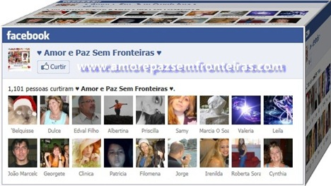 Membros de Amor e Paz no Facebook