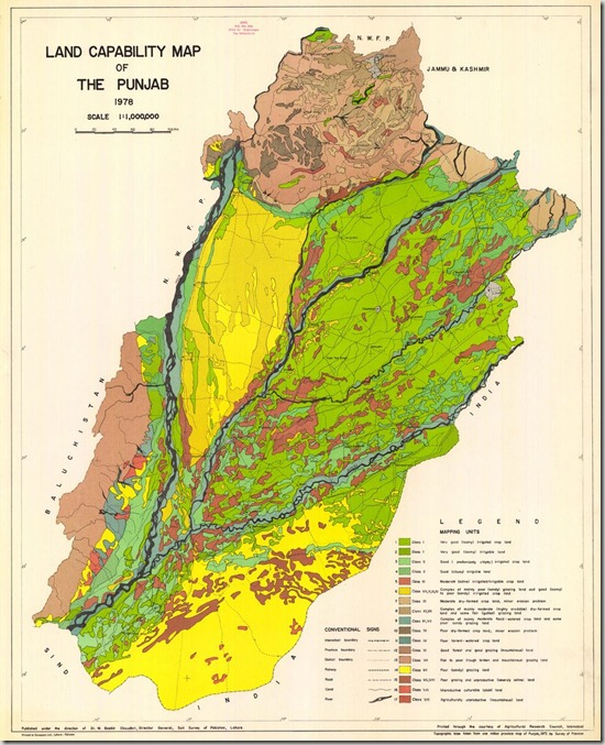 landcapability map of punjab