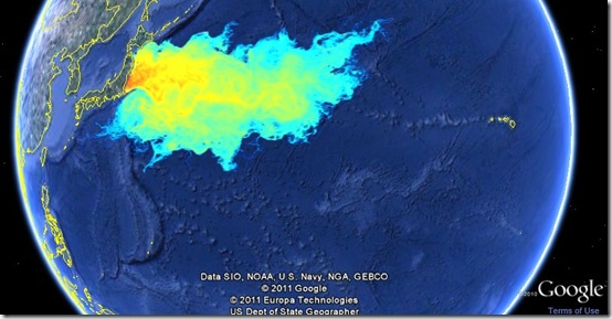 Radioactive plume from Japan