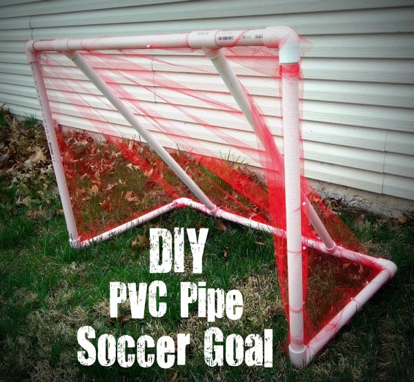DIY PVC Pipe Soccer Goal by Six Sisters Stuff