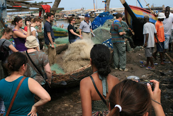 'Learning about the local fishing trade and community in Elmina.' Photo by Sandra Vu