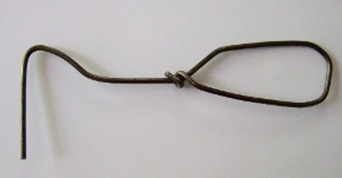 Wire weeder handmade from wire coat hanger