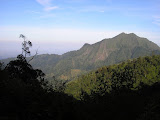 The impressive Abiyoso peak from the main trail to Muria (Daniel Quinn, June 2010)