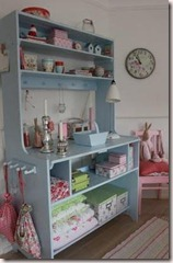 armário azul