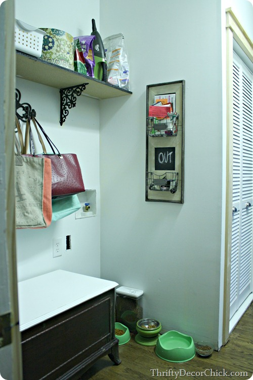 laundry turned mud room