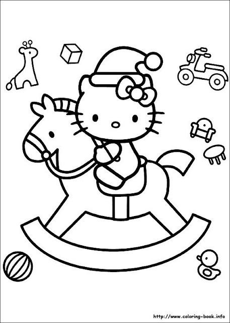 DIBUJOS INFANTILES DE NAVIDAD DE HELLO KITTY PARA COLOREAR (HELLO ...