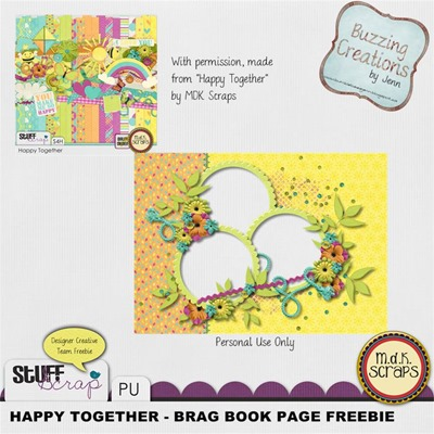 MDK Scraps - Happy Together - Brag Book Page Preview