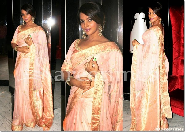 Neetu_Chandra_Pink_Saree