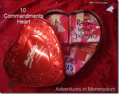10 Commandments heart