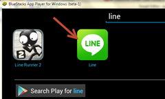 การติดตั้ง apps line ใน bluestack