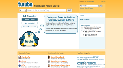 Twubs - busquedas personalizadas de hashtags