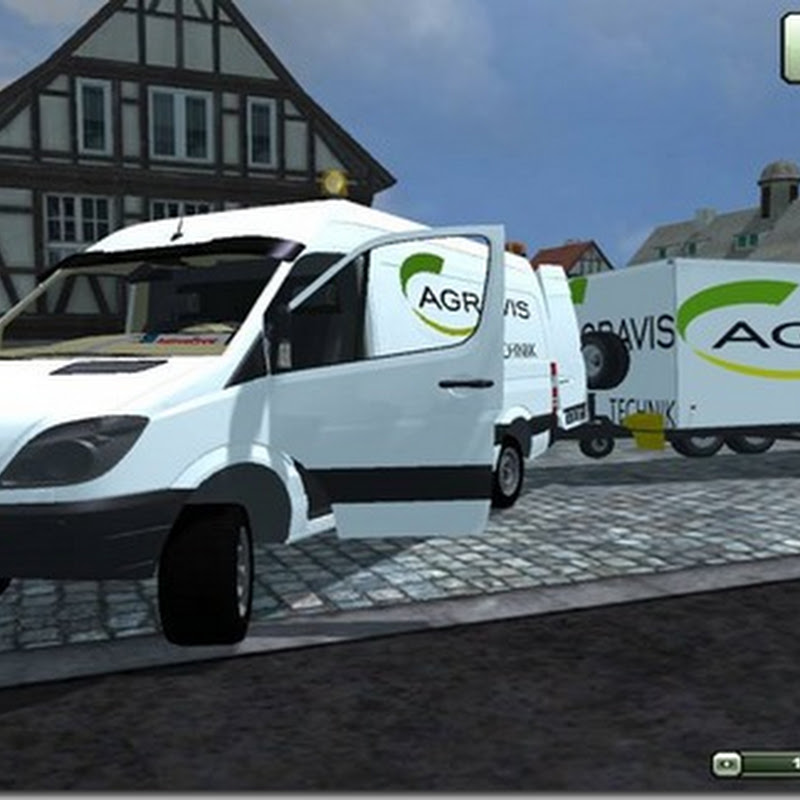 Farming simulator 2013 - Sprinter and trailer v 2.0 MR