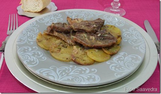 Espe saavedra en la cocina chuletas de cordero al horno - Chuletas de cordero al horno con patatas ...