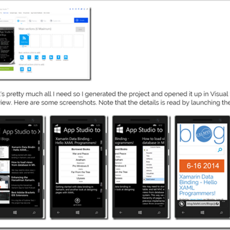 From AppStudio to Android, porting AppStudio apps with a little help from Xamarin