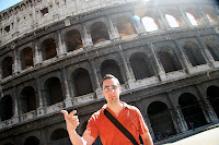 The classic G pose in front of the colosseum