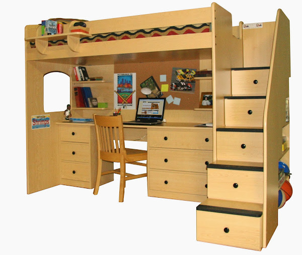 Bk34307 Pic Loft Bed With Desk