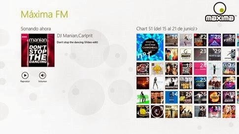 Maxima FM para Windows 8