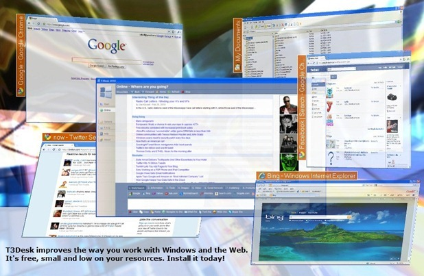 How to Extend Windows Desktop in 3D with T3Desk