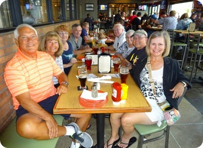 group at brewery