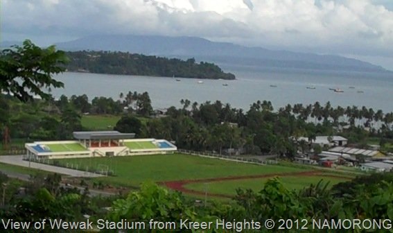 View of Wewak Stadium from Kreer Heights