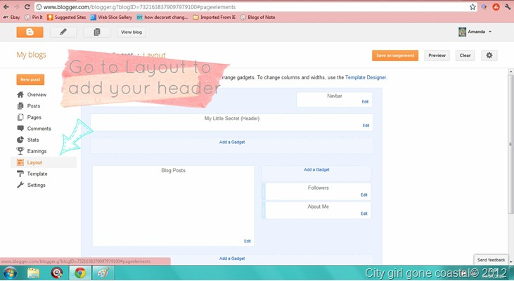 uploading blog header to blog