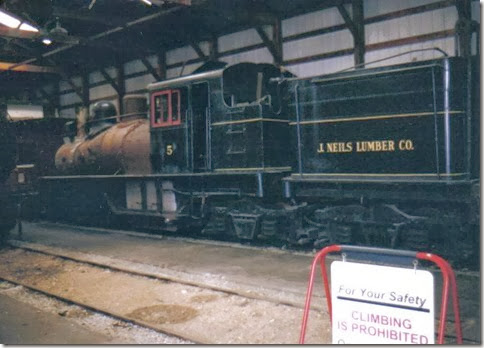 J. Neils Lumber Company 3-Truck Shay #5 at the Illinois Railway Museum on May 23, 2004