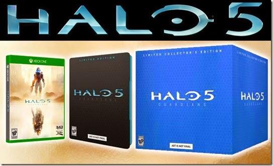 Halo 5 pre-order exclusives.