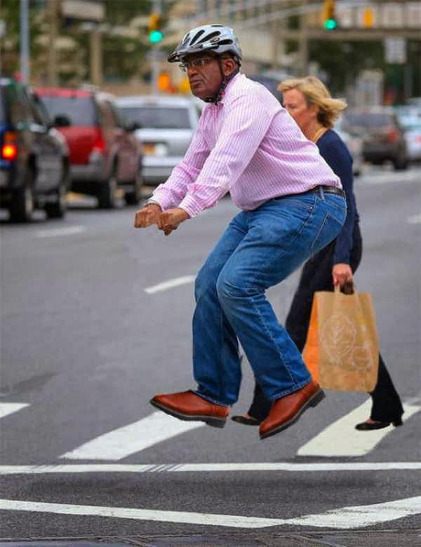 Pessoas andando em bicicleta invisíveis 20