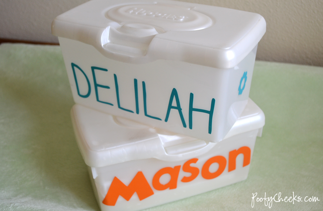 Personalized Baby Wipes Container