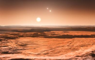 ilustração do sistema Gliese 667C