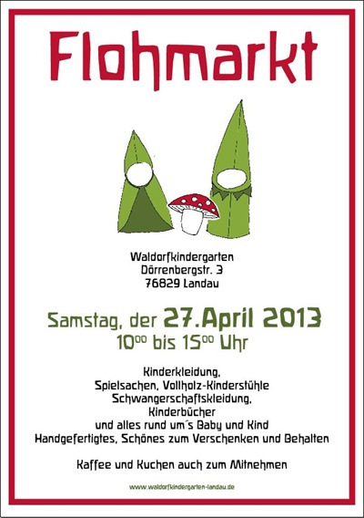 Waldorfkindergarten, Flohmarkt 130427