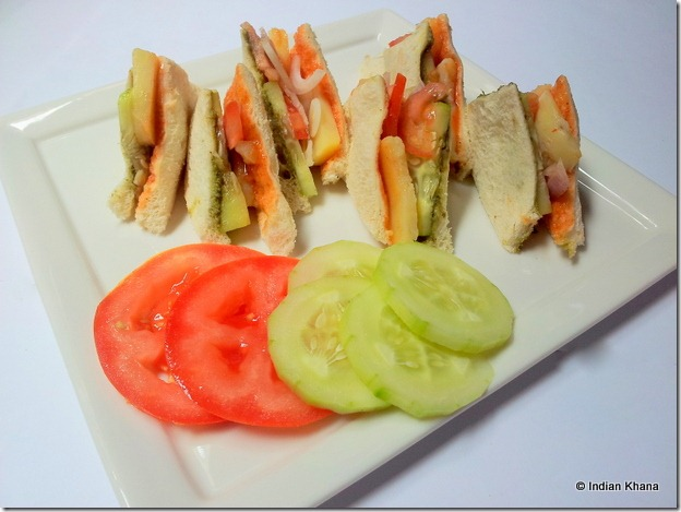 Vegetable Sandwich Recipe Street Food Recipe