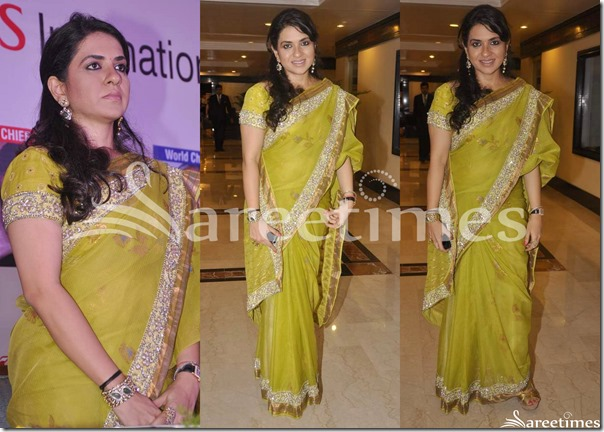 Shaina_NC_Green_Printed_Saree