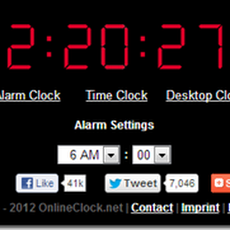 ตั้งเวลาปลุกจากเวบไซต์  Online Alarm Clock