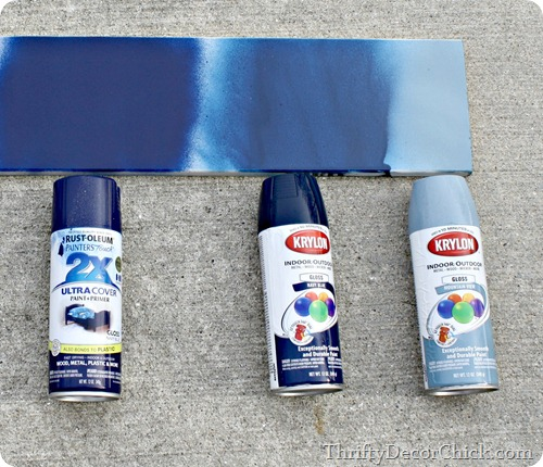 Spray paint blues from thrifty decor chick Metallic spray paint colors