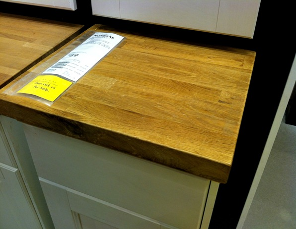 NUMERAR oak countertop